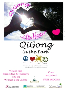 QiGongOasis in the park poster latest version